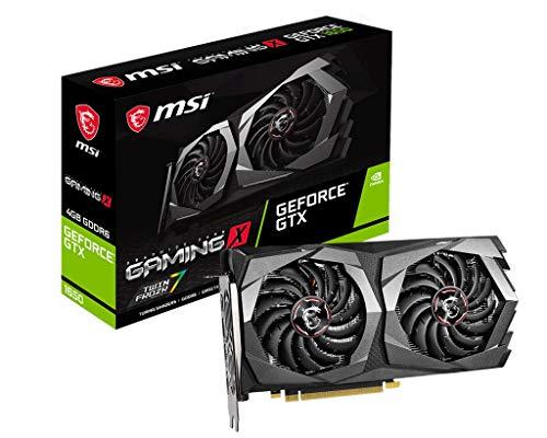 MSI Gaming GeForce GTX 1650 128-Bit HDMI/DP 4GB GDRR6 HDCP Support DirectX 12 Dual Fan VR Ready OC Graphics Card (GTX 1650 D6 Gaming X)