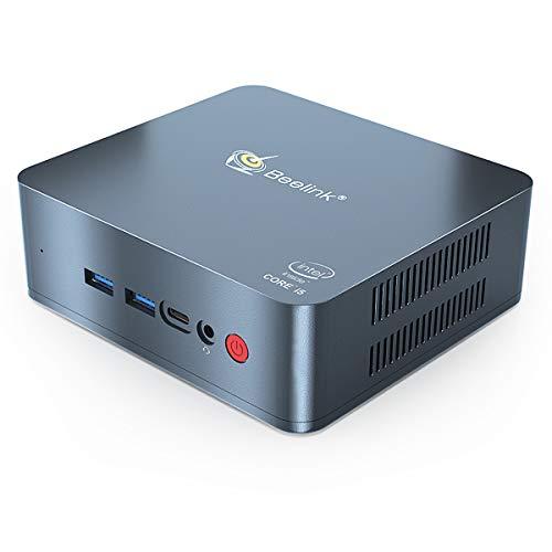 Beelink U57 Mini PC with Intel Core i5-5257u Processor(up to 3.10 GHz)&Windows 10 Pro,8G DDR3L/128G SSD High Performance Business Mini Computer,2.4G/5G Dual WiFi,BT4.2,Dual HDMI Ports