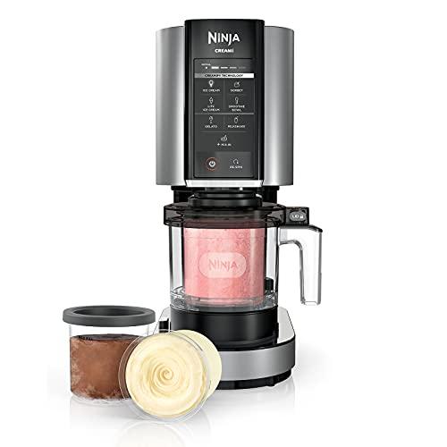 Ninja NC301 CREAMi, Ice Cream, Gelato, Milkshake, Sorbet, and Smoothie Bowl Maker, 7 One-Touch Programs, Silver