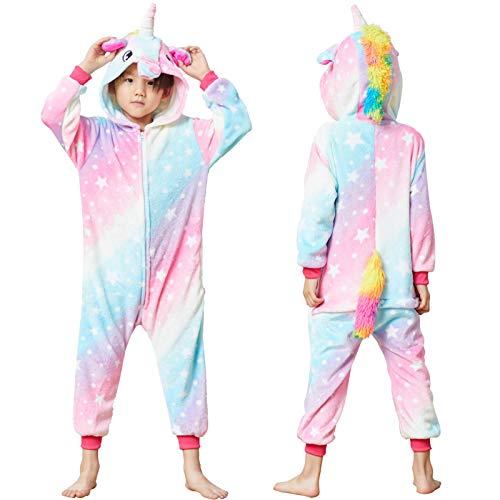 Colorful Unicorn Onesie Pajamas for Kids - Animal Costume for Halloween Cosplay…