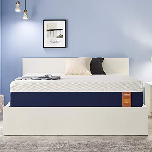 JINGXUN Queen Size Mattress 11 Inch Gel Memory Foam Queen Mattress for Cool Sleep & Pressure Relief, Premium Gel Multi Layered Memory Foam Bed Mattress in a Box, Easy Set-Up