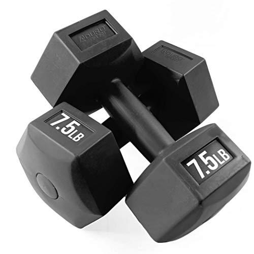 Aduro Dumbbells Set Pair of 7.5 LB Each, Total 15LB - Black