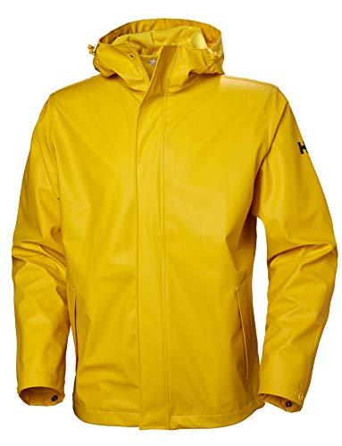 Helly-Hansen Men's Standard Moss Hooded Waterproof Windproof Raincoat Jacket, 344 Essential Yellow, Medium