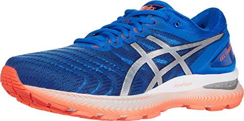 ASICS Men's Gel-Nimbus 22 Running Shoes, 10.5, Tuna Blue/Pure Silver