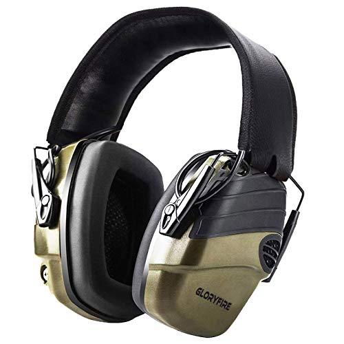 GLORYFIRE Ear Protection,Hearing Protection for Gun Range Electronic Shooting Earmuffs
