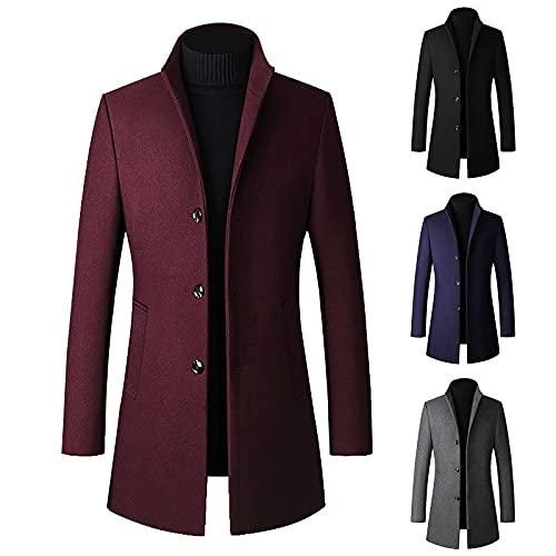 Men's Autumn and Winter Plaid Lapel Pocket Cotton Padded Loose Coat Jacket Shirt