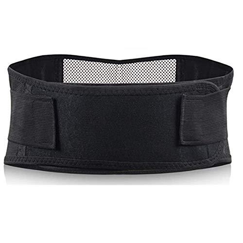 yxx Back Brace Men Women Adjustable Self-Heating Magnetic Therapy Waist Belt Lumbar Support Back Waist Support Brace Double Banded Lumbar