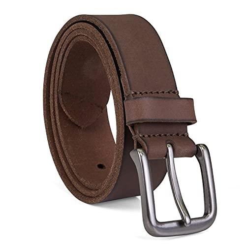 Timberland Men's 35mm Classic Jean Belt, Dark Brown, 34