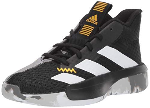adidas Unisex Pro Next Basketball Shoe, Black/white/active Gold, 3.5 M US Big Kid