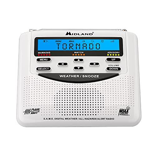 Midland - WR120B/WR120EZ - NOAA Emergency Weather Alert Radio - S.A.M.E. Localized Programming, Trilingual Display, 60+ Emergency Alerts, & Alarm Clock (WR120B - Box Packaging)