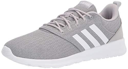 adidas Women's QT Racer 2.0 Running Shoe, Grey/White/Grey, 9.5