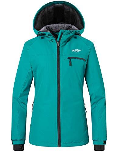 Wantdo Women's Mountain Snow Waterproof Ski Jacket Winter Ski Gear Moonblue M