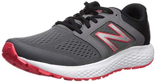 New Balance Men's 520v5 Cushioning Running Shoe, Castlerock/Energy red/Black, 11 4E US