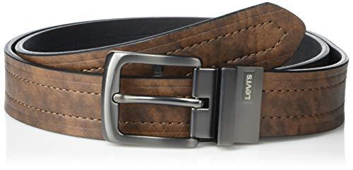 Levi's Men's Reversible Casual Jeans Belt, Brown/Black, 38 (Waist: 36)