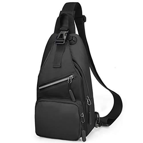 VOLGANIK ROCK Waterproof Sling Bag Small Sling Backpack Casual Crossbody Chest Bag Shoulder Bag Front Pack