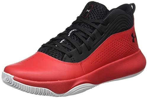 Under Armour Men's Lockdown 4 Basketball Shoe, Black (004)/Red, 12.5