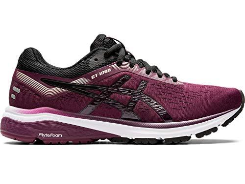 ASICS Women's GT-1000 7 Running Shoes, 8M, Roselle/Black