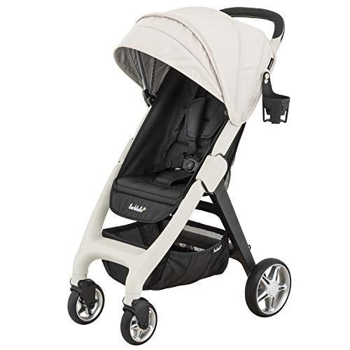Larktale Chit Chat Plus Lightweight Travel Baby Stroller - Newborn to Toddler Stroller - Cottesloe Cream