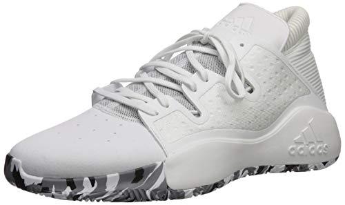 adidas Men's Pro Vision Basketball Shoe, White/White/Gold Metallic, 11 M US