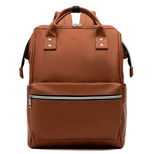 BROMEN Laptop Backpack 15.6 inch Diaper Bag Backpack for Women Waterproof Travel College Daypack Bag Brown