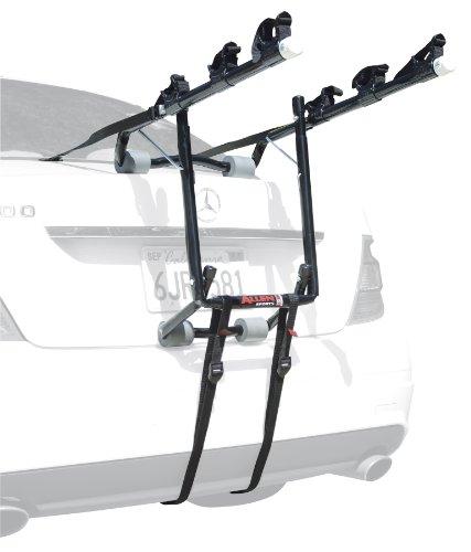 Allen Deluxe 3-Bike Trunk Mount Rack, Blk/ Silver