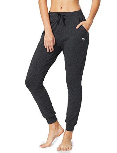 BALEAF Women's Active Yoga Sweatpants Workout Joggers Pants Lounge Sweat Pants with Pockets Charcoal Size XL