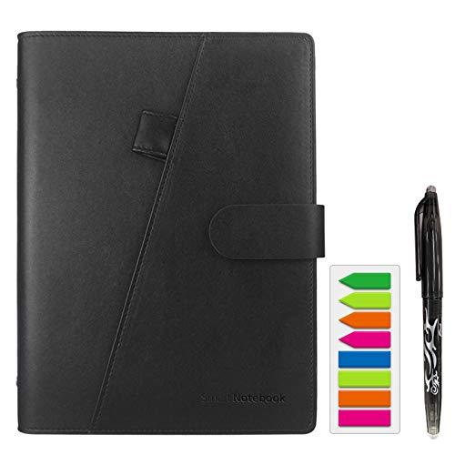 HOMESTEC Reusable Smart Notebook Erasable Wirebound Notebook Sketch Pads APP Storage
