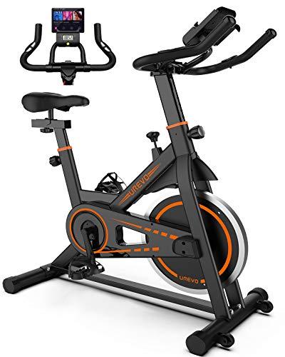 UREVO Indoor Cycling Bike Stationary,Exercise Bike Workout Bike,Fitness Bikes for Home Cardio Workout Bike Training Bike Black