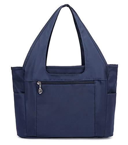 Collsants Nylon Lightweight Handbag for Women Waterproof Tote Shoulder Purses Bag (Blue)