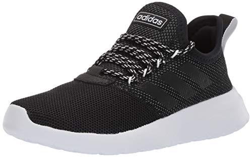 adidas Women's Lite Racer Reborn Running Shoe, Black/Black/Grey, 9 M US
