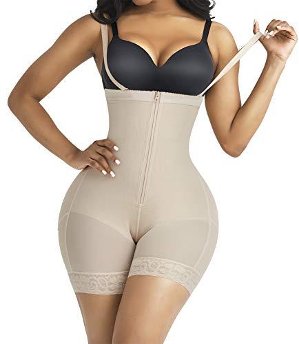 Shapewear for Women Body Shaper Tummy Control Waist Cincher Underbust Corset Butt Lifter Bodysuit Beige S