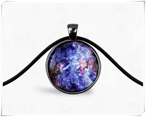 dandelion Blue Galaxy Necklace,Boho Necklace,Galaxy Pendant,Nebula Necklace,Space Jewelry,Cosmic Star Necklace,Boho Jewelry