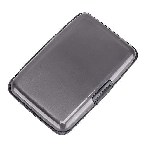 Elfish RFID Blocking Credit Card Protector Aluminum ID Case Hard Shell Business Card Holders Metal Wallet for Men or Women (dark grey)