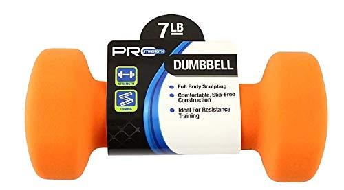 Pro Strength Neoprene Coated 7 lb Dumbbells -Pair (14lbs) Total