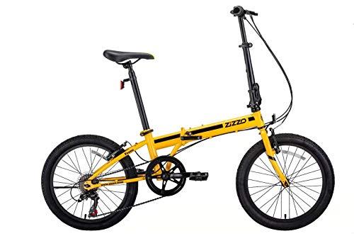 ZiZZO EuroMini Ferro 20' 29 lbs Light Weight Folding Bike (Yellow)
