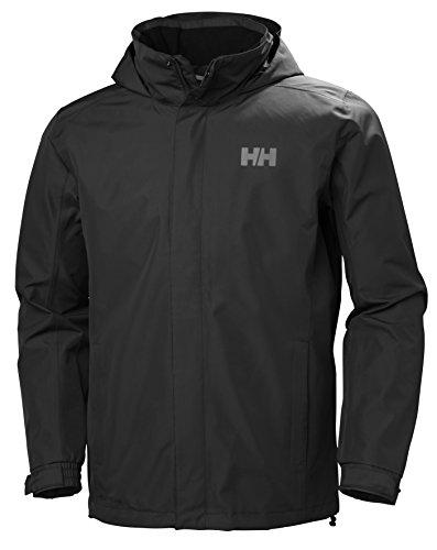 Helly Hansen Men's Dubliner Waterproof Windproof Breathable Rain Coat Jacket, 990 Black, X-Large