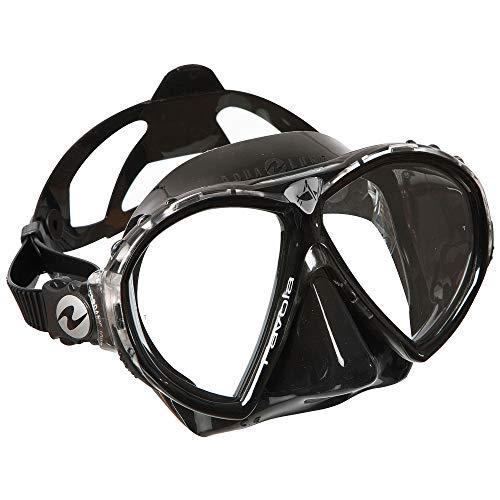 Aqua Lung Favola Double Lens Dive Mask (Black Silicone/Black)