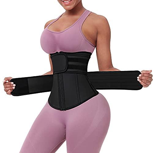 FeelinGirl Womens Latex Waist Trainer Corset for Workout Body Shaper XX-Large