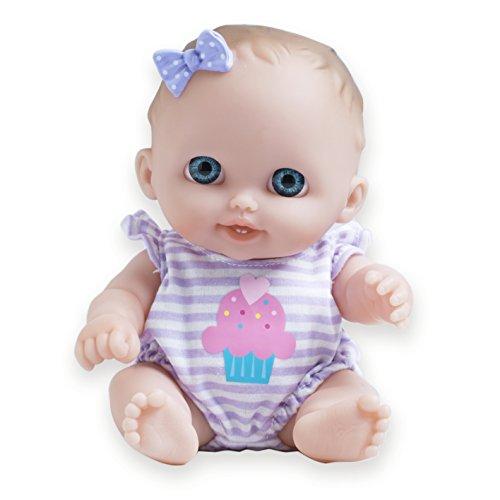 JC Toys Lil Cutesies All Vinyl Washable Doll Baby Doll, Blue Eyes Lulu