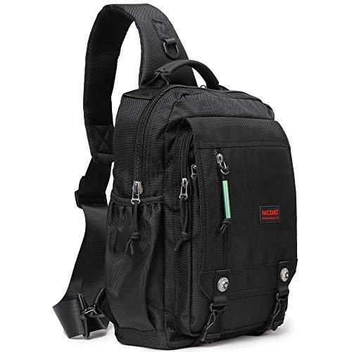 Sling Bags Chest Shoulder Backpacks, 14.1-Inch Laptop Backpack Crossbody Messenger Bag Travel Outdoor Men Women