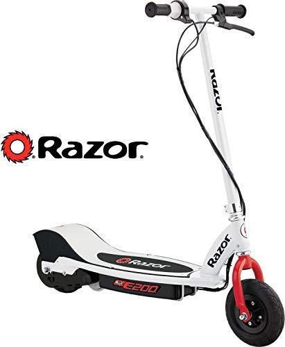 Razor E200 Electric Scooter - White/Red - 13112410