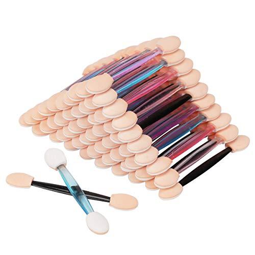 Akstore 100PCS Disposable Dual Sides Eye Shadow Sponge Applicator Eyeshadow Brushes Makeup Brush (Multicolors)