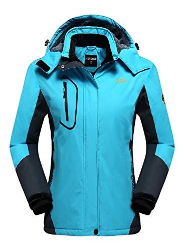 Women's Mountain Waterproof Ski Jacket Windproof Rain Jacket U420WCFY029,New.Blue,XL