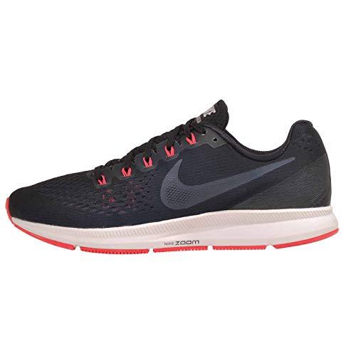 Nike Men's Air Zoom Pegasus 34 Running Shoe (Black/Armory Navy-Red Orbit, 10.5 M US)