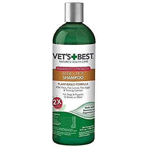 Vet's Best Flea and Tick Advanced Strength Dog Shampoo | Flea Treatment for Dogs | Flea Killer with Certified Natural Oils | 12 Ounces