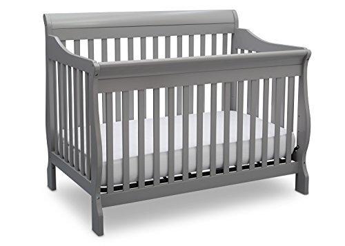 Delta Children Canton 4-in-1 Convertible Baby Crib, Grey