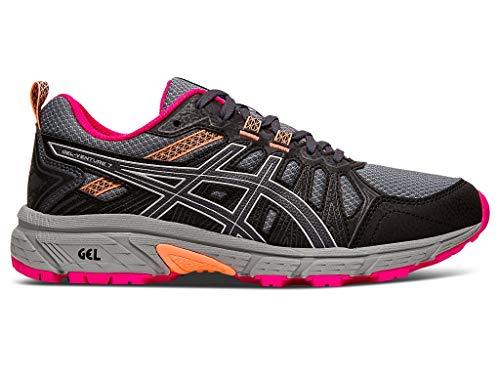 ASICS Women's Gel-Venture 7 Running Shoes, 9.5M, Carrier Grey/Silver