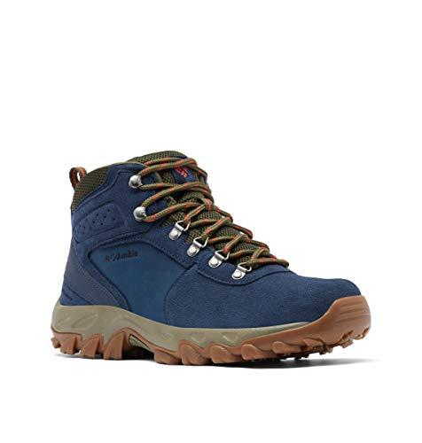 Columbia Men's Newton Ridge Plus II Suede Waterproof Hiking Boot, Collegiate Navy/Peatmoss, 13