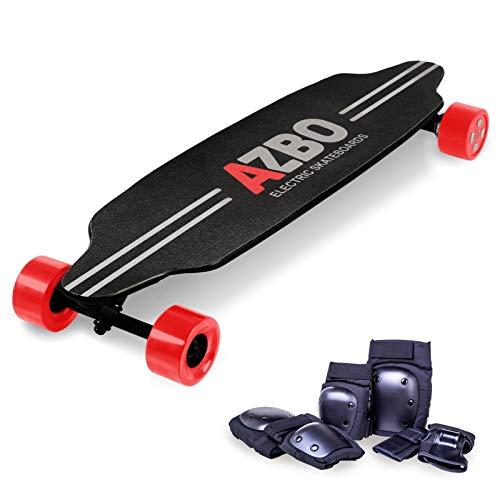 AZBO Electric Skateboard Longboard with Remote Control - Gift Protective Gear Set | 2000W Dual Hub Motor UL2272 Certified/High Speed 25 MPH Motorized Wireless H6 Board - 19 Miles Range