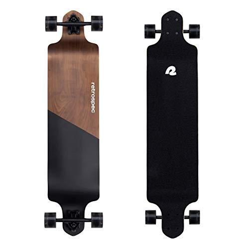 Retrospec Tidal 41-inch Drop-Down Longboard Skateboard Complete 41-Inch